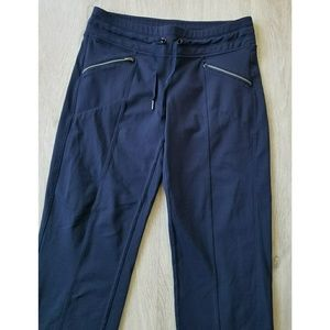 Athleta Pants - Athleta Metro Slouch Capri Navy Blue Size Small